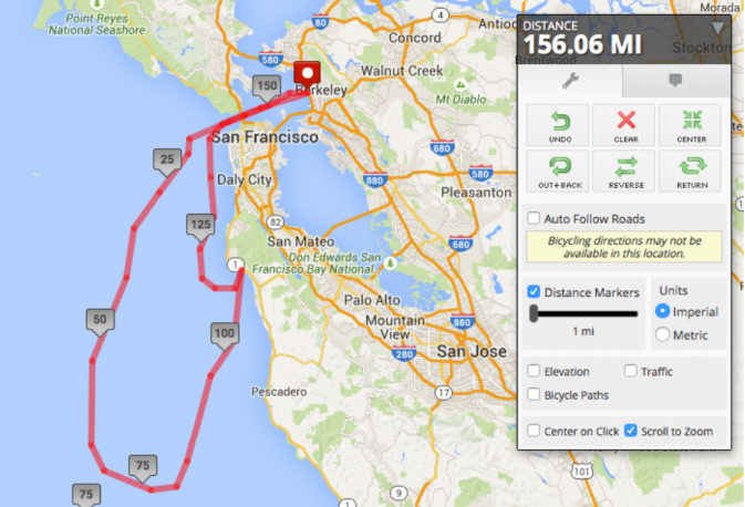 Our route, the NE stretch to Half Moon Bay is the portion we motored