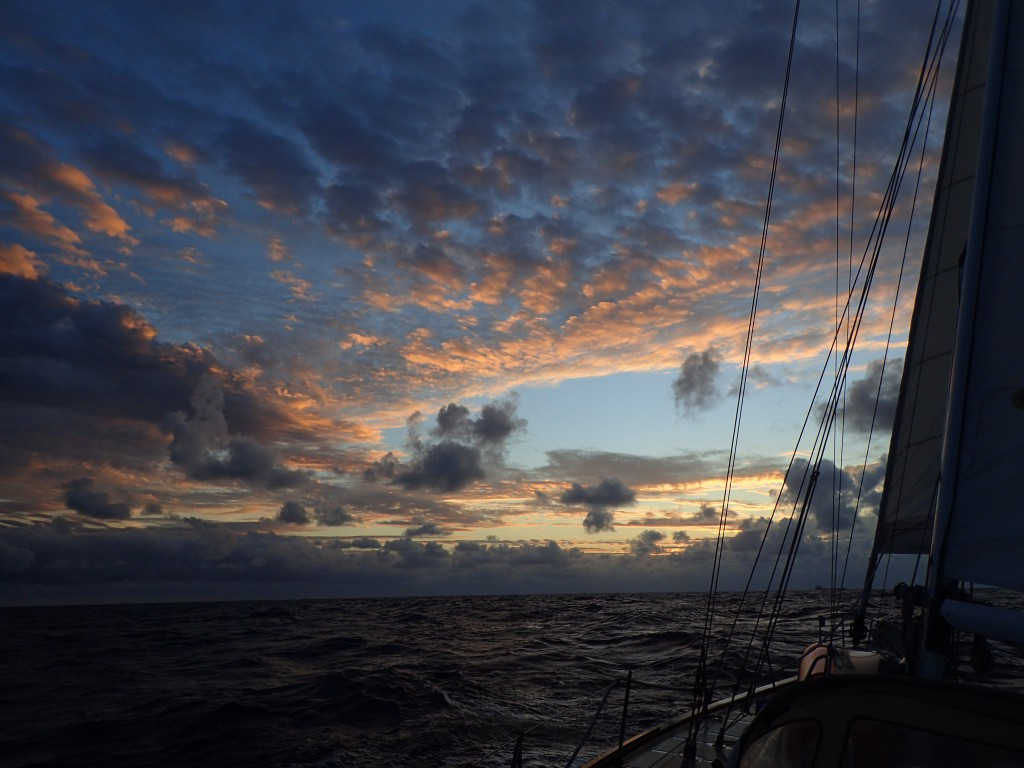 Nice sky on the sail up to Grand Bay