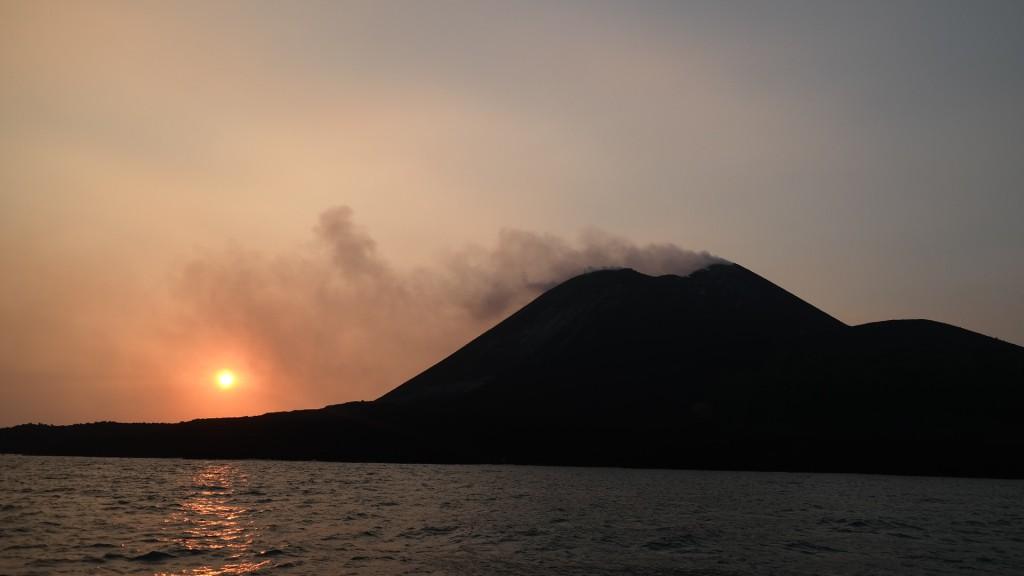 Sunset over Krakatoa