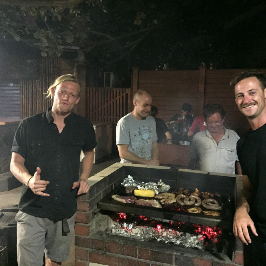 Our first braai in Richard's Bay