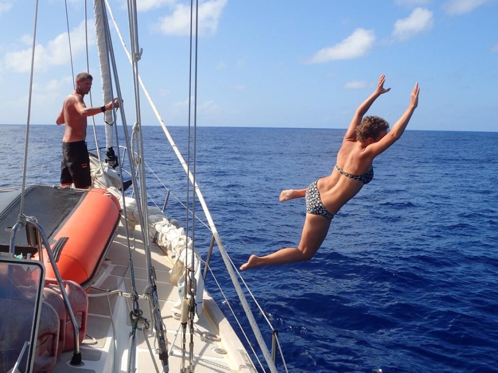 Annie taking a plunge