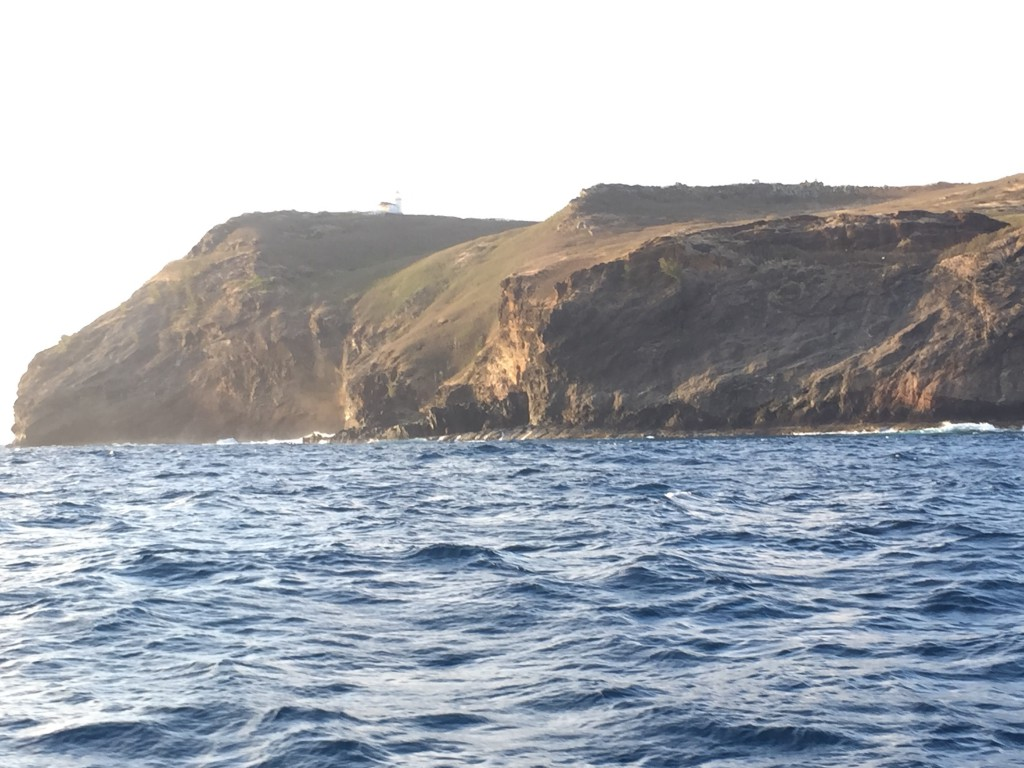 Flat Island with lighthouse on top