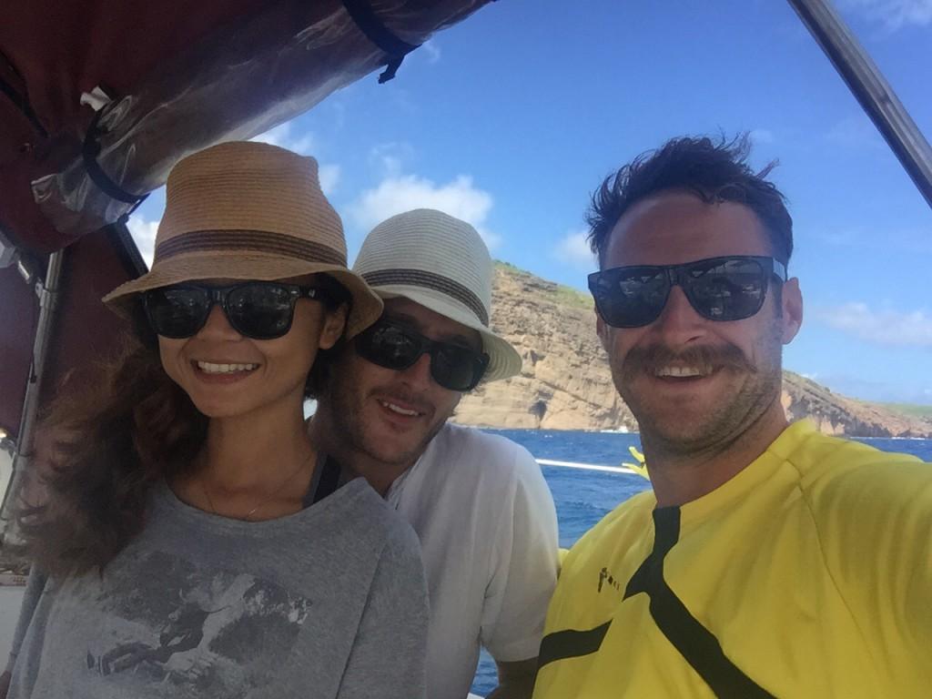 Sailing past Round Island