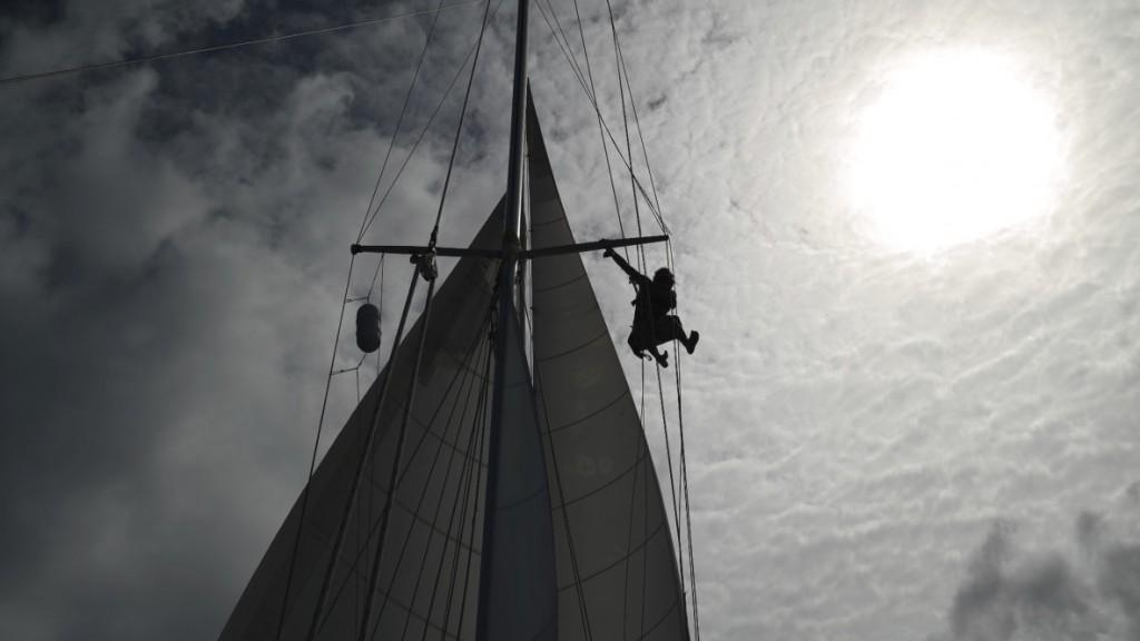 Jesse up the mast